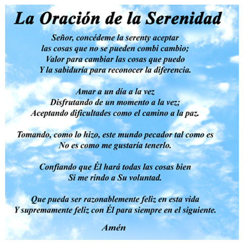 Top Serenity Prayer In Spanish Images for Pinterest Tattoos